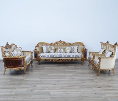 European Furniture Maggiolini 31054SLC Living Room Set Beige, Main Image
