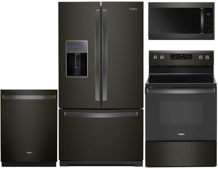 Whirlpool 930117 Kitchen Appliance Package & Bundle Black Stainless Steel, 5