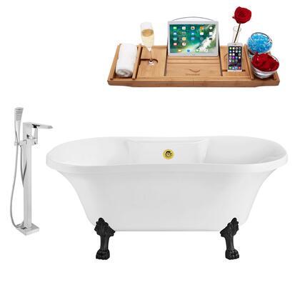 Streamline NH100BLGLD100 Bath Tub, NH100BL GLD 100 1T