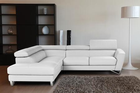 J and M Furniture Sparta 176911XHFCWH Sectional Sofa White, 1