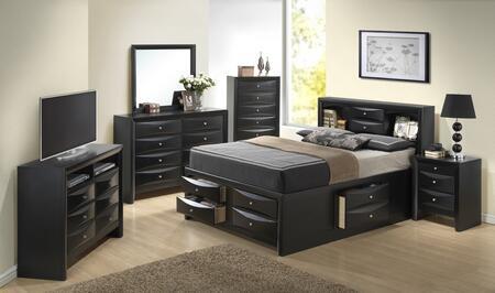 Glory Furniture G1500G G1500GTSB3CHDMNTV Bedroom Set Black, Main Image