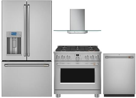 Cafe  1066345 Kitchen Appliance Package Stainless Steel, main image
