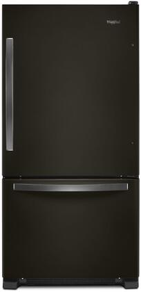 Whirlpool WRB322DMHV Bottom Freezer Refrigerator Black Stainless Steel, Main Image
