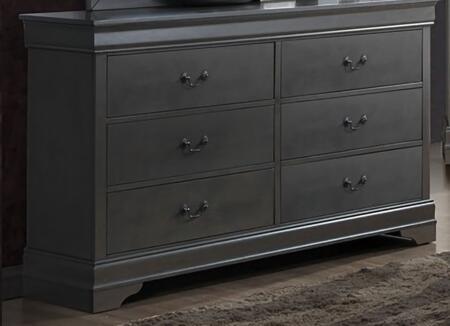 Furniture of America Louis Philippe III CM7866GYD Dresser Gray, Main Image