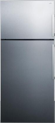 Summit  FF1512SSIMLHD Top Freezer Refrigerator Stainless Steel, FF1512SSIM Top Freezer Refrigerator