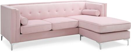 Glory Furniture Capua G0344BSC Sectional Sofa Pink, G0344BSC Main Image