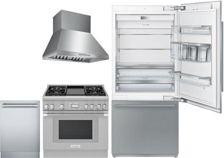 Thermador Freedom 977629 Kitchen Appliance Package Stainless Steel, Main image