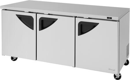Turbo Air Super Deluxe TUR72SDN Undercounter and Worktop Refrigerator Stainless Steel, TUR72SDN Angled View