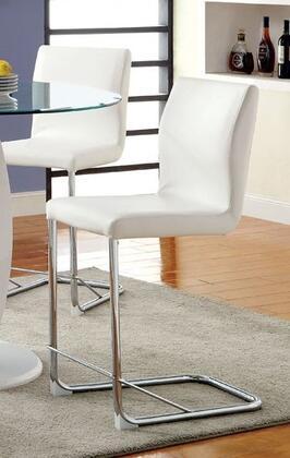 Furniture of America Lodia II CM3825WHPC2PK Bar Stool White, Main Image