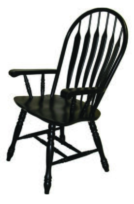 Sunset Trading Sunset Selections DLU4130ABA Dining Room Chair Black, DLU 4130 AB A