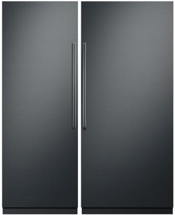 Dacor Contemporary 869951 Column Refrigerator & Freezer Set Graphite Stainless Steel, 1