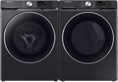 Samsung  1011043 Washer & Dryer Set Black Stainless Steel, 1