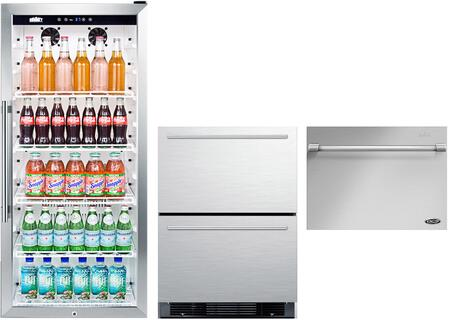 Summit  1139939 Kitchen Appliance Package Stainless Steel, main image