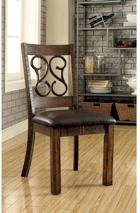 Furniture of America Paulina CM3465SC2PK Dining Room Chair Brown, Main Image