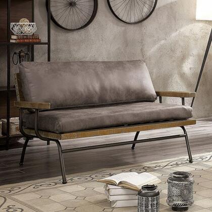 Furniture of America Santiago CM6077BRLV Loveseat Brown, cm6077br lv 1