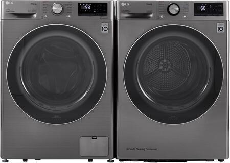 LG  1415394 Washer & Dryer Set Graphite Steel, 1