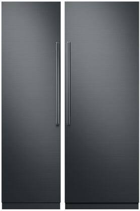 Dacor  866005 Column Refrigerator & Freezer Set Graphite Stainless Steel, 1
