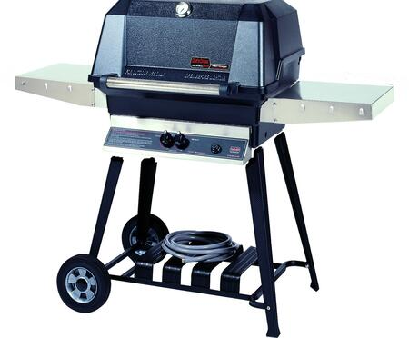 27″ Freestanding Natural Gas  Grill Head with Aluminum Cart   642 sq. inches Total Cooking Area  1 Dual Burner  40000 BTU  Electronic Ignition