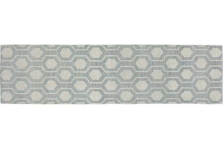 """M56506076305ST Runner 2' 6"""" X 10' 0"""" Rug Pad with Geometric Pattern and Handcrafted"""