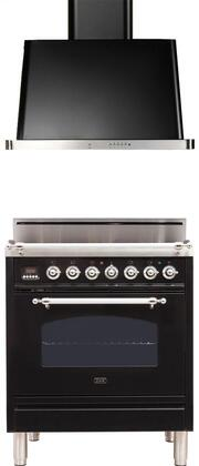 Ilve  1311422 Kitchen Appliance Package Black, Main Image