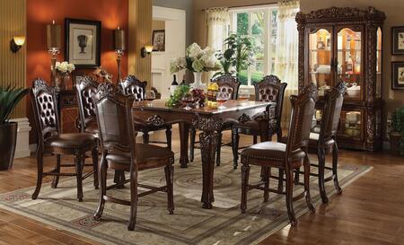 Acme Furniture Vendome 62025TCC Bar Table Set Brown, 10 PC Set