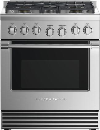 Fisher Paykel Professional RDV2305NN Freestanding Dual Fuel Range Stainless Steel, Front view