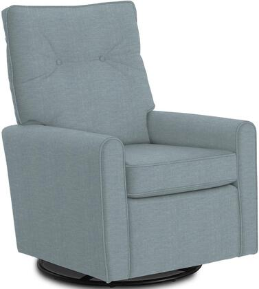 Phylicia Collection 4007-19702B Recliner with 360-Degrees Swivel Glider Metal Base  Removable Back  High Backrest  Zipper Access and Fabric