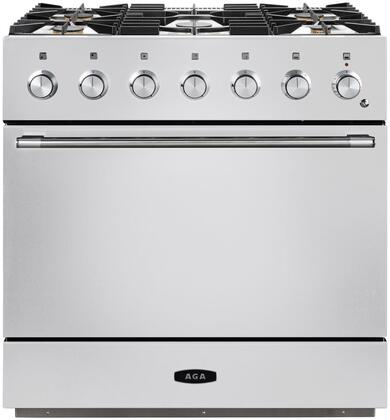 AMC36DF-WHT 36″ Mercury Dual Fuel Natural Gas Range with 4.5 cu. ft. Capacity  Dual Broiler System  5 Sealed Solid Brass Burners  7-mode