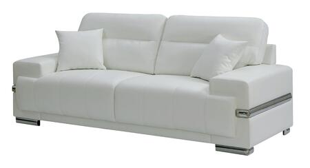 Furniture of America Zibak CM6411WHSF Stationary Sofa White, Main Image