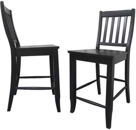 Sunset Trading Black Cherry Selections DLUB20AB2 Bar Stool Black, DLUB20AB2 Main View