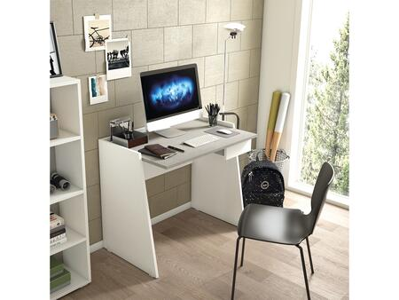 Marco KD-274 35″ Office Desk with Wood Grain and Light Gray Concrete Melamine in