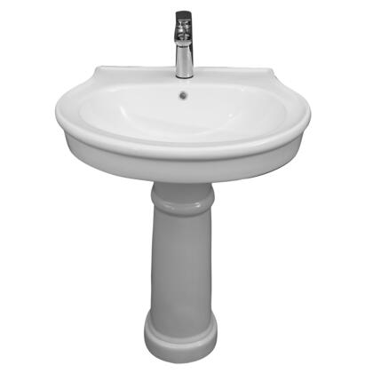 3-2061WH Brendon Pedestal  1 Faucet Hole with Overflow in Chrome