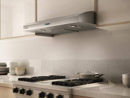Elica Techne EBL436SS Under Cabinet Hood Stainless Steel, EBL436SS Angled View