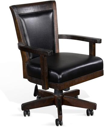1444TL2 Game Chair with Casters  Cushion Seat & Back  in Tobacco