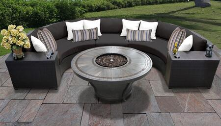 Barbados Collection BARBADOS-06n-BLACK Barbados 6-Piece Patio Set 06n with 1 Armless Chair   2 Cup Table   2 Curved Armless Chair   1 Huntington