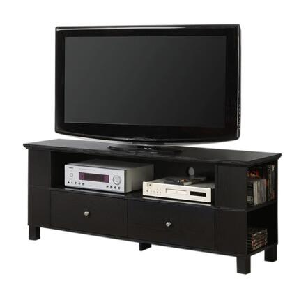 P60CMPBL 60 Black Wood TV Stand