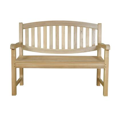 Kingston BH-004O 47″ 2-Seater Bench with Curve Back  Teak Wood Construction and Sunbrella