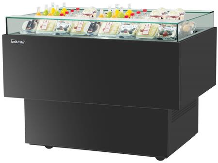 Turbo Air TOS50PNB Display and Merchandising Refrigerator, TOS50PNB Angled View