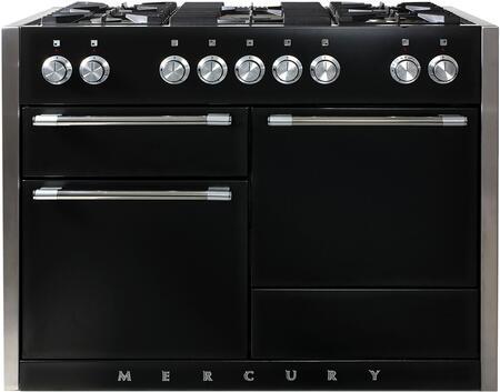 AGA Mercury AMC48DFBLK Freestanding Dual Fuel Range Black, Main Image