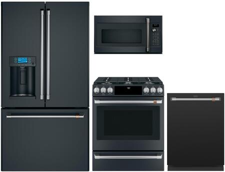 Cafe Customizable Professional Collection 1066289 Kitchen Appliance Package Black, Main image