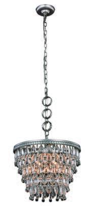 Elegant Lighting 1219D16ASRC Ceiling Light, Image 1