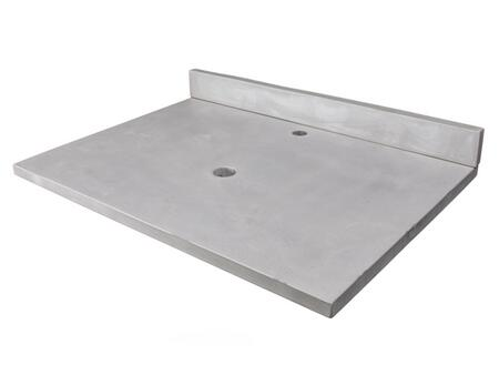 EB_N3122LG 31-in x 22-in Concrete Counter Top with Back Splash – Light