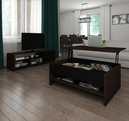 Bestar Furniture Small Space 1685079 52 in. and Up TV Stand, 16850 79 V2