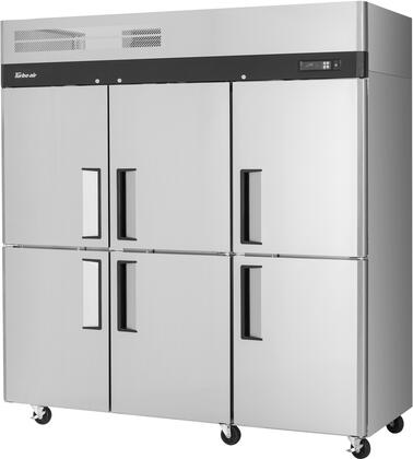 M3F72-6-N 78″ M3 Series Solid Half Door Reach-In Top Mount Freezer with 65.6 cu. ft. Capacity  Self-Cleaning Condenser and Hydrocarbon Refrigerants