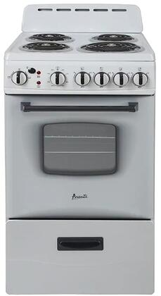 ERU200P0W 20″ Electric Range with 4 Coil Elements  2.1 cu. ft. Oven Capacity  Storage Drawer  in