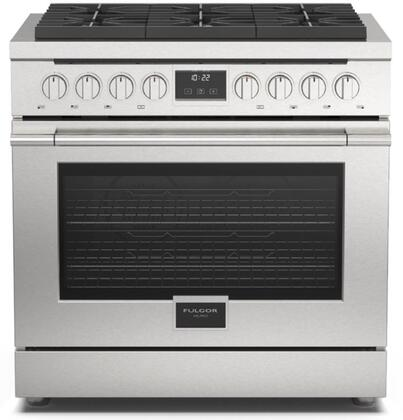 F4PGR366S1 36″ Accento Professional Gas Range with 6 Sealed Burners  5.7 cu. ft. Oven Capacity  Dual Convection  Cool Touch Oven Door  Continuous