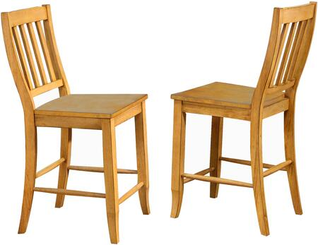 Sunset Trading Oak Selections DLUB20LO2 Bar Stool Brown, DLUB20LO2 Main View