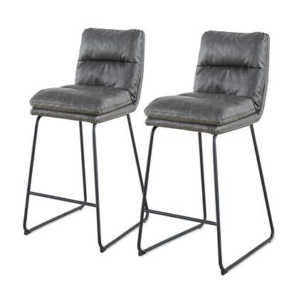 3000024-314 Reese PU Leather Bar Stool Set of 2  in Momentum