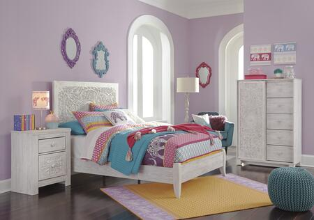 Signature Design by Ashley Paxberry B1818784CN Bedroom Set White, B1818784CN Main View