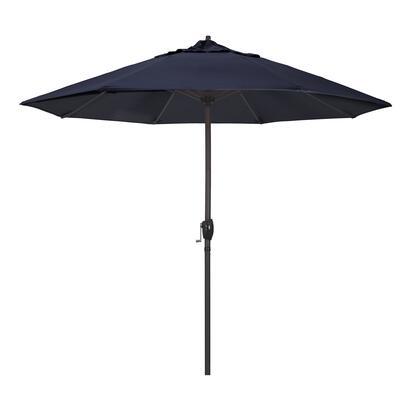 Casa Collection ATA908117-5439 9′ Patio Umbrella With Bronze Aluminum Pole Aluminum Ribs Auto Tilt Crank Lift With Sunbrella 1A Navy